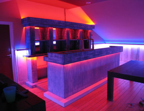Bar met RGB led-strips